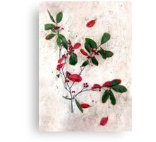 Feative Red Berries Canvas Print