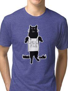 Monster Cat (for dark shirts) Tri-blend T-Shirt