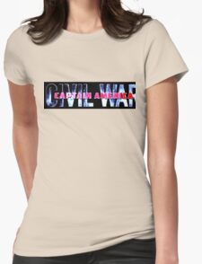 Captain America CW Womens Fitted T-Shirt