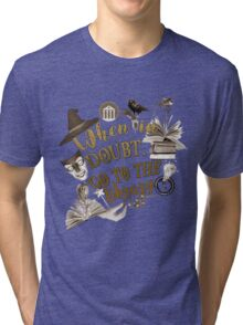 When in doubt, go to the library. Tri-blend T-Shirt