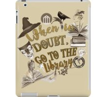 When in doubt, go to the library. iPad Case/Skin