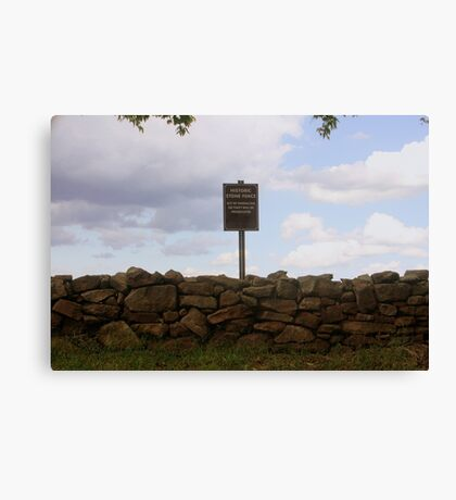 Historic Slave Fence Canvas Print