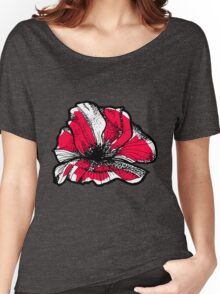 Ruby red poppy Women's Relaxed Fit T-Shirt