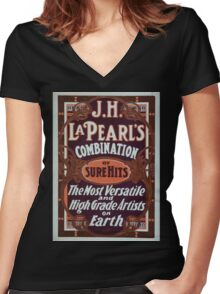 Performing Arts Posters JH La Pearls combination of sure hits the most versatile and high grade artists on earth 0461 Women's Fitted V-Neck T-Shirt