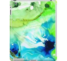 Blue And Green Abstract - Land And Sea - Sharon Cummings iPad Case/Skin