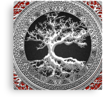 Treasure Trove: Celtic Tree of Life [Silver] Canvas Print