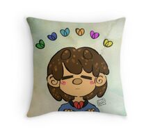 Frisk and the Hearts Throw Pillow