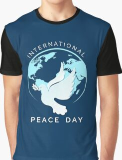 International Peace Day Illustration Graphic T-Shirt