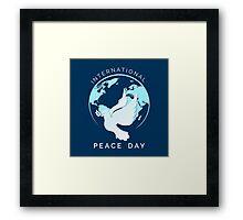 International Peace Day Illustration Framed Print