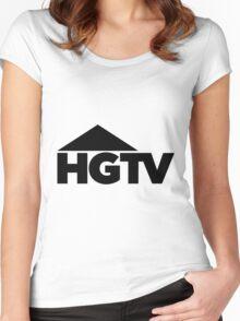 HGTV logo Women's Fitted Scoop T-Shirt