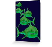 Haie - sharks version 1 Greeting Card
