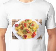 Vegetarian dish with organic vegetables Unisex T-Shirt