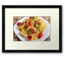 Vegetarian dish with organic vegetables Framed Print