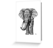 Ornate Elephant Greeting Card