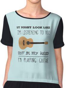 Mind guitar Chiffon Top