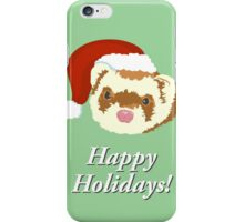 Ferret Holiday Card iPhone Case/Skin