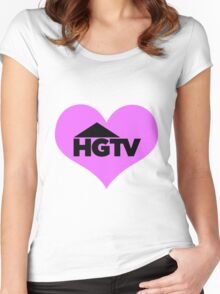 I love HGTV Women's Fitted Scoop T-Shirt