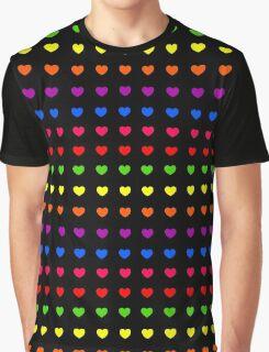 Rainbow Hearts Graphic T-Shirt
