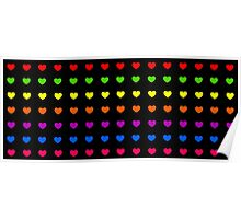 Rainbow Hearts Poster
