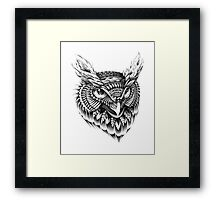 Ornate Owl Head Framed Print