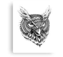 Ornate Owl Head Metal Print