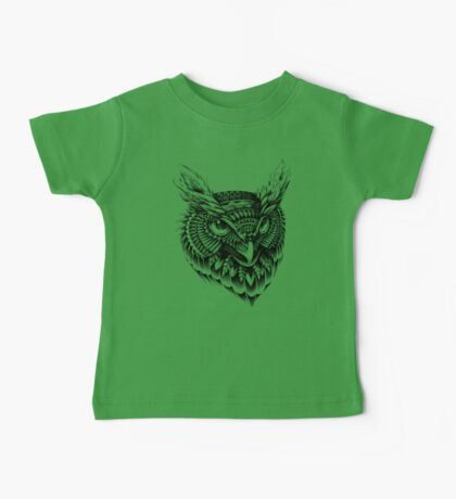 Ornate Owl Head Baby Tee
