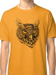 Ornate Owl Head Classic T-Shirt