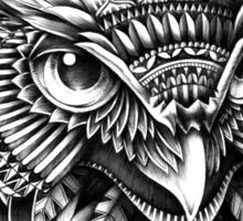 Ornate Owl Head Sticker