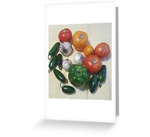 Salsa Vegetables Greeting Card
