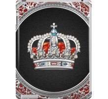 Prince-Princess King-Queen Crown [Silver]  iPad Case/Skin