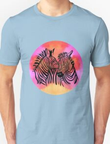 portrait of two zebras together Unisex T-Shirt