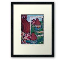 Gnome Selfie Framed Print
