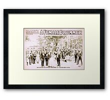 Performing Arts Posters Blaneys extravaganza success A female drummer 2000 Framed Print