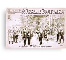 Performing Arts Posters Blaneys extravaganza success A female drummer 2000 Canvas Print