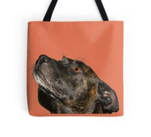 The cutiest staffie Tote Bag