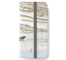 Icelandic Horses on Winter Landscape in Iceland iPhone Wallet/Case/Skin