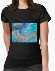 Impasse spray-art on canvas Womens Fitted T-Shirt