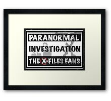 official the x-files fans facebook group Framed Print