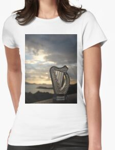 Crystal Harp at Sea Womens Fitted T-Shirt