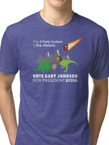 Vote Gary Johnson for President 2016 Tri-blend T-Shirt