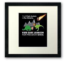 Vote Gary Johnson for President 2016 Framed Print