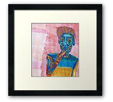 smoking crab boy Framed Print