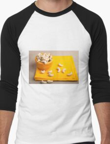Natural and healthy cashew nuts for raw foodists Men's Baseball ¾ T-Shirt