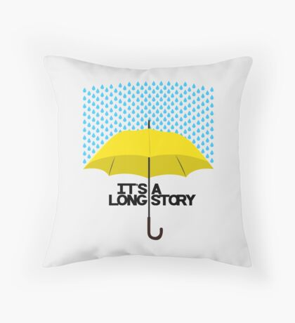 It's a Long Story... Throw Pillow
