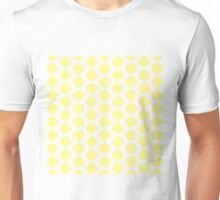 Eames Era Retro 60s Waves Pattern  (Yellow Pastel) Unisex T-Shirt