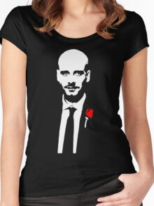 Funny Pep Guardiola the Godfather Women's Fitted Scoop T-Shirt