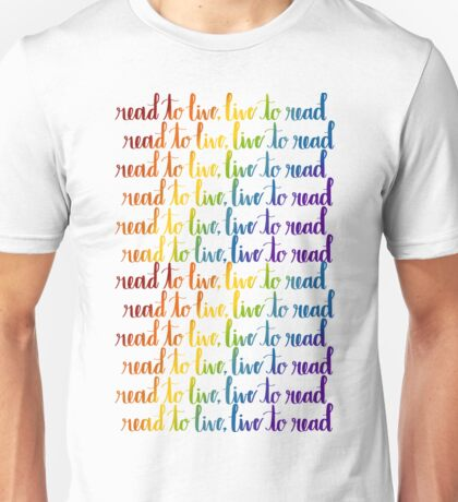 Read to Live Unisex T-Shirt