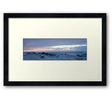 Sunset at Myvatn Framed Print
