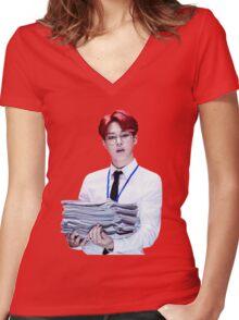 JIMIN - DOPE Women's Fitted V-Neck T-Shirt