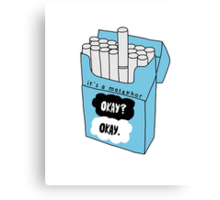 The Fault in Our Stars Okay Cigarette Box Canvas Print